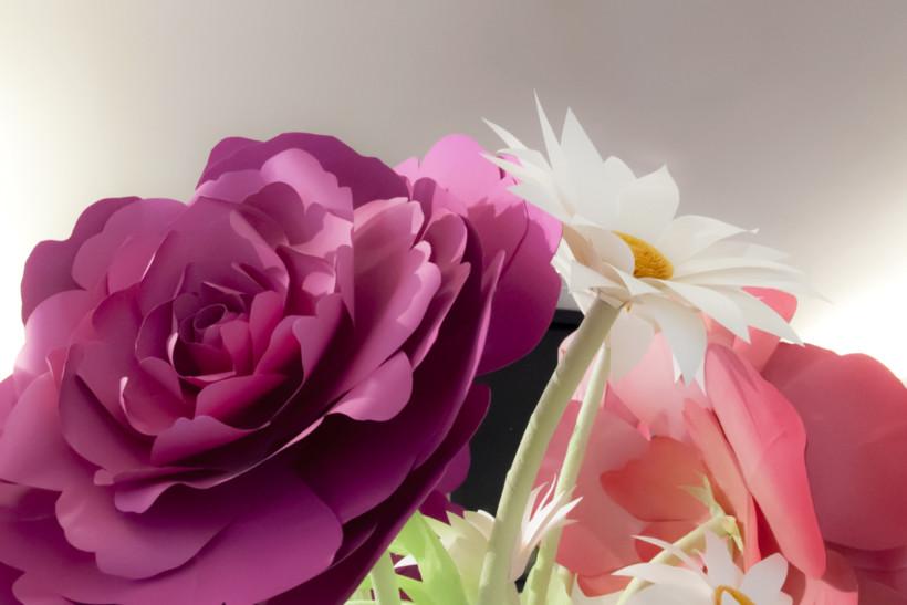 Fleurs en papier géantes Darphin