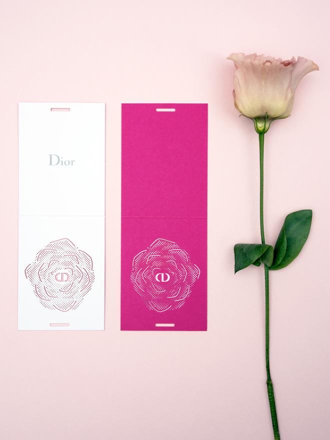 Les Petites Mouillettes : La rose de mai pour Dior blotter à parfumer
