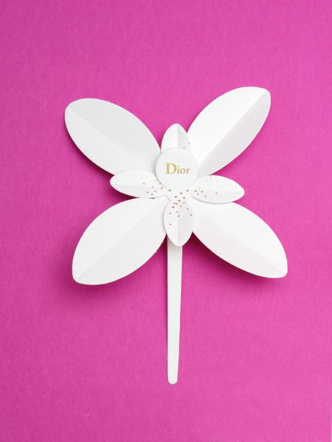 Les Petites Mouillettes : Jasmin Dior en carte à parfum, fleur à parfumer, dorure à chaud