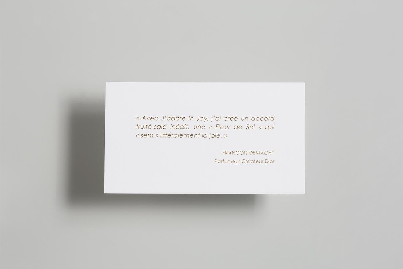Photo du Verso de la touche à sentir J'adore in Joy pour Dior