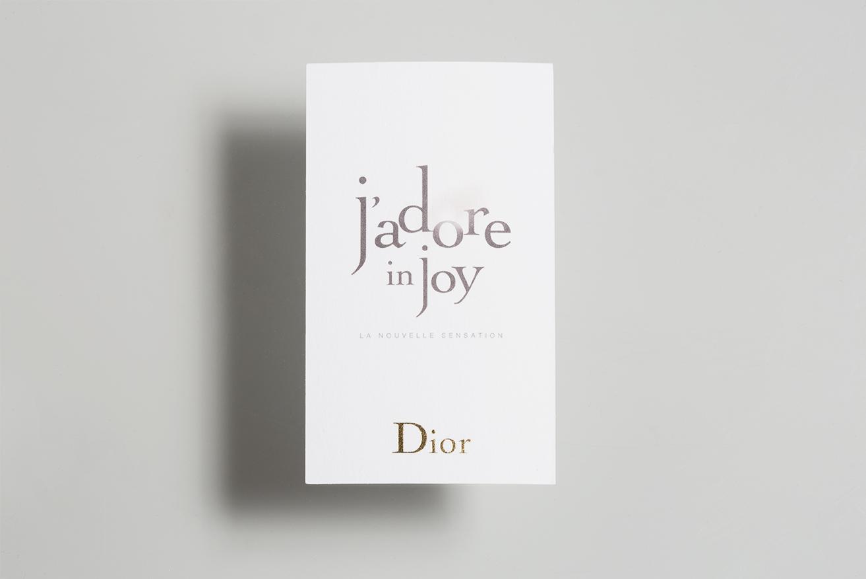 Photo du Recto de la touche à sentir J'adore in Joy pour Dior