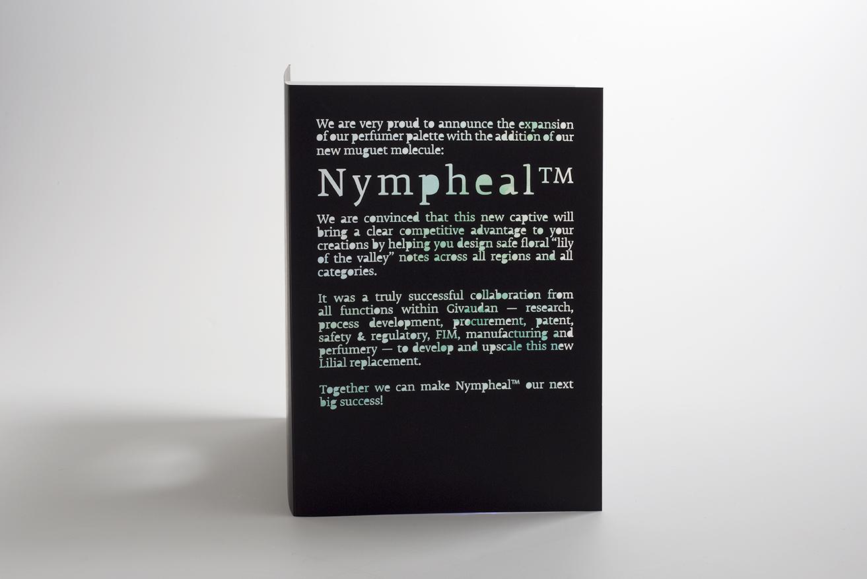 Carte Givaudan pour la sortie de Nympheal, découpe au laser