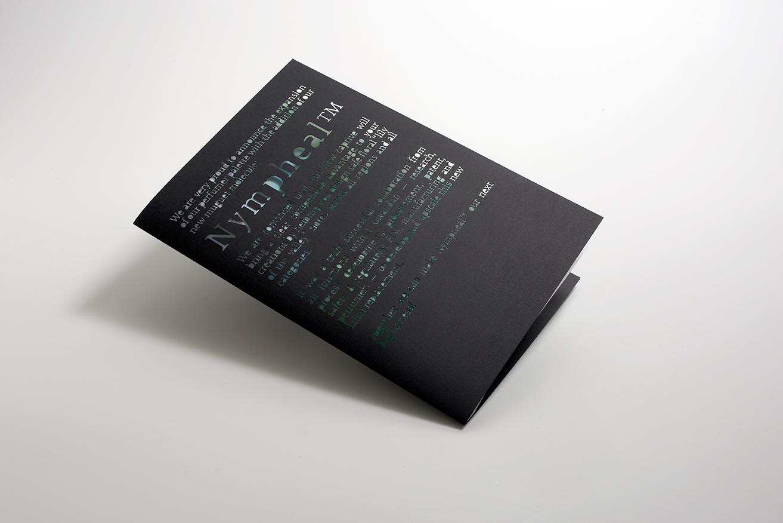 Les Petites Mouillettes : Carte Givaudan pour la sortie de Nympheal, papier ultra noir