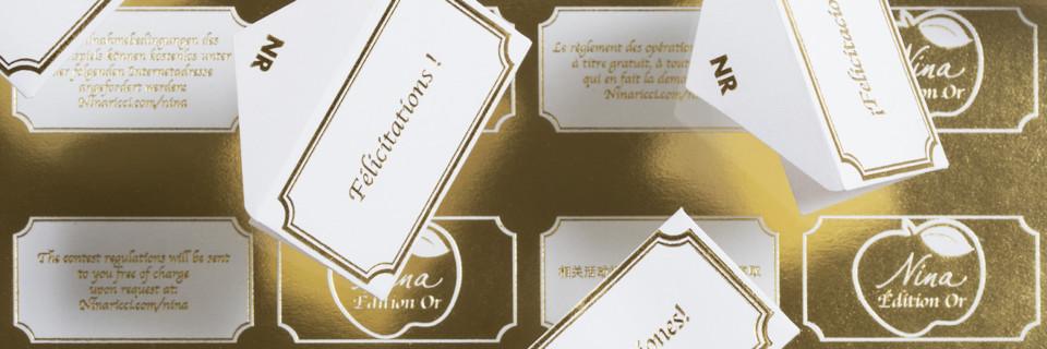 Les Petites Mouillettes : Tickets Nina Ricci Edition OR